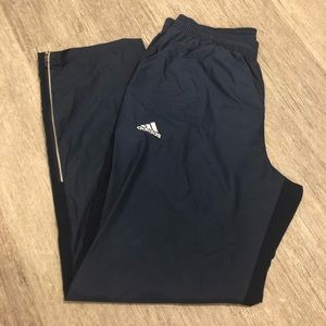 Adidas track pants two tone blue inseam 34""